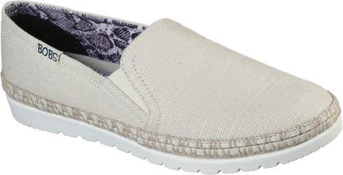 Skechers Bobs Flexpadrille 3.0 Dark Horse Slip On Ladies Shoes Natural